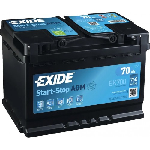 Exide AGM Start-Stop 70 Ah (EK700)