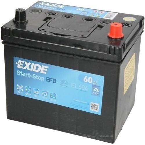 Акумулятор Exide EFB Start-Stop 60 Ah (EL604)