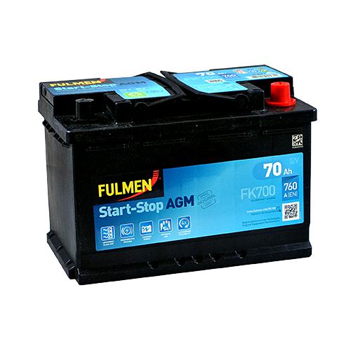 Акумулятор Fulmen AGM 70 Аг 760 А