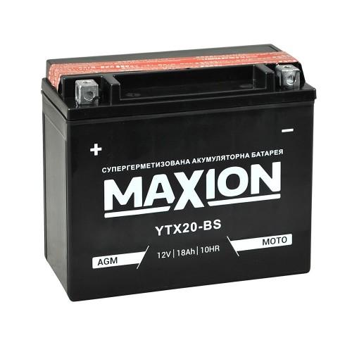 Акумулятор Maxion YTX20-BS (18 Аг, ток 270А)
