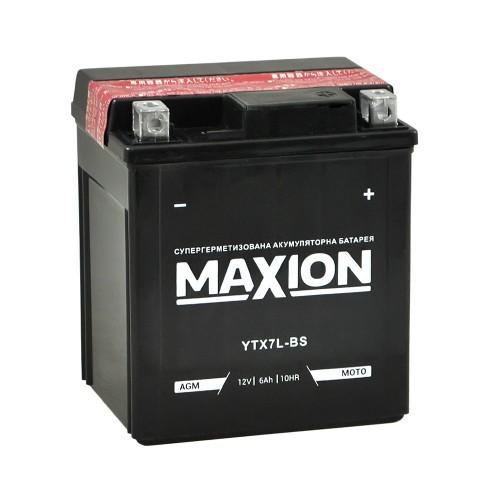 Акумулятор Maxion YTX7L-BS 6 Аг 100А