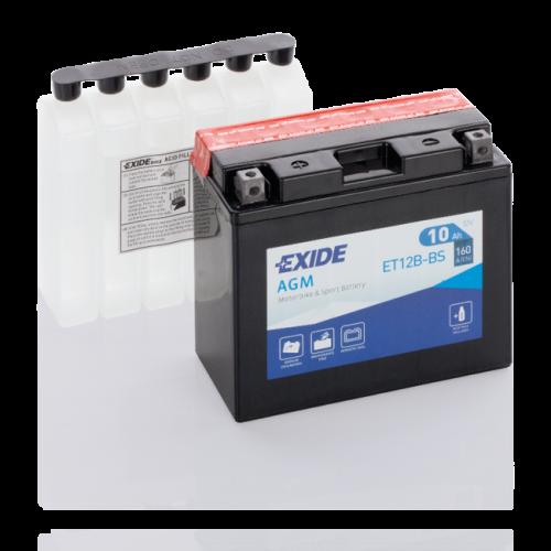 Акумулятор Exide ET12B-BS ( 10Аг, ток 160А)