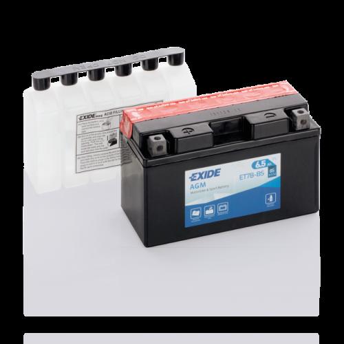 Акумулятор Exide ET7B-BS (6,5Аг ток 85А)