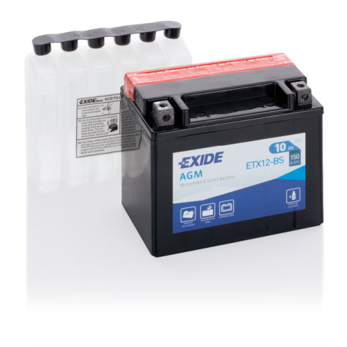 Акумулятор Exide ETX12-BS (10 Аг, ток 150А)