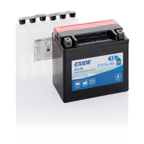 Акумулятор Exide ETX14L-BS (12 Аг, ток 200А)