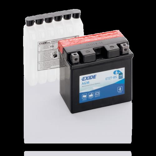 Акумулятор Exide ETZ7-BS (6 Аг, ток 100А)